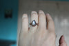 Gray Moonstone Ring size 4.75