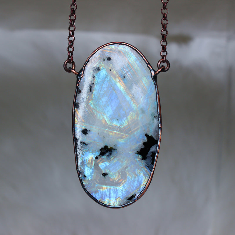 Giant Rainbow Moonstone - a