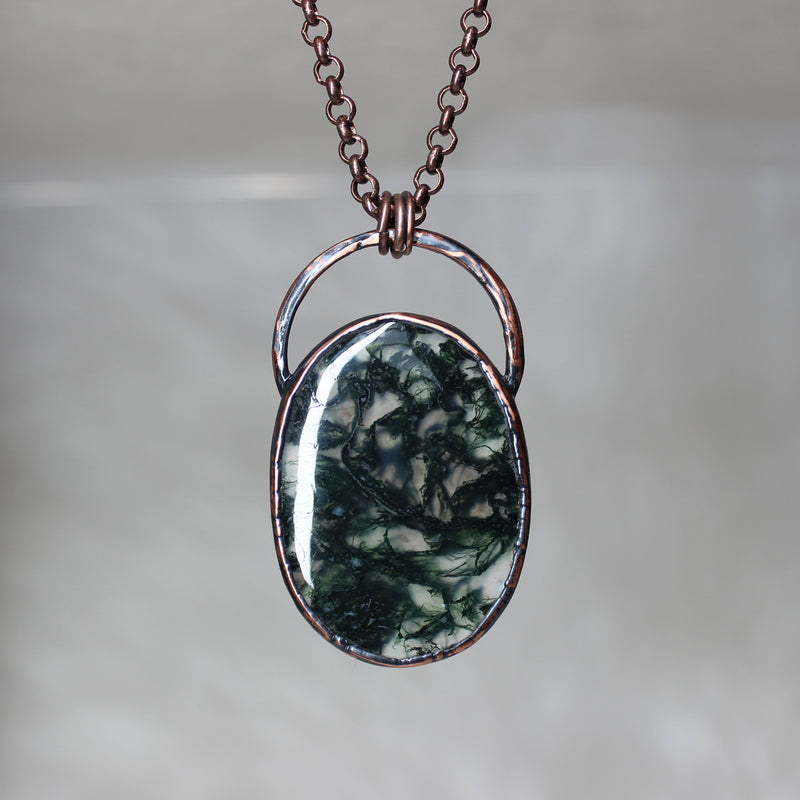 Moss Agate Necklace - d