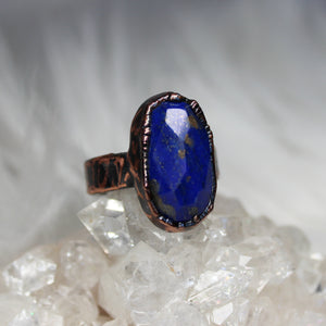 Faceted Lapis Ring size 7