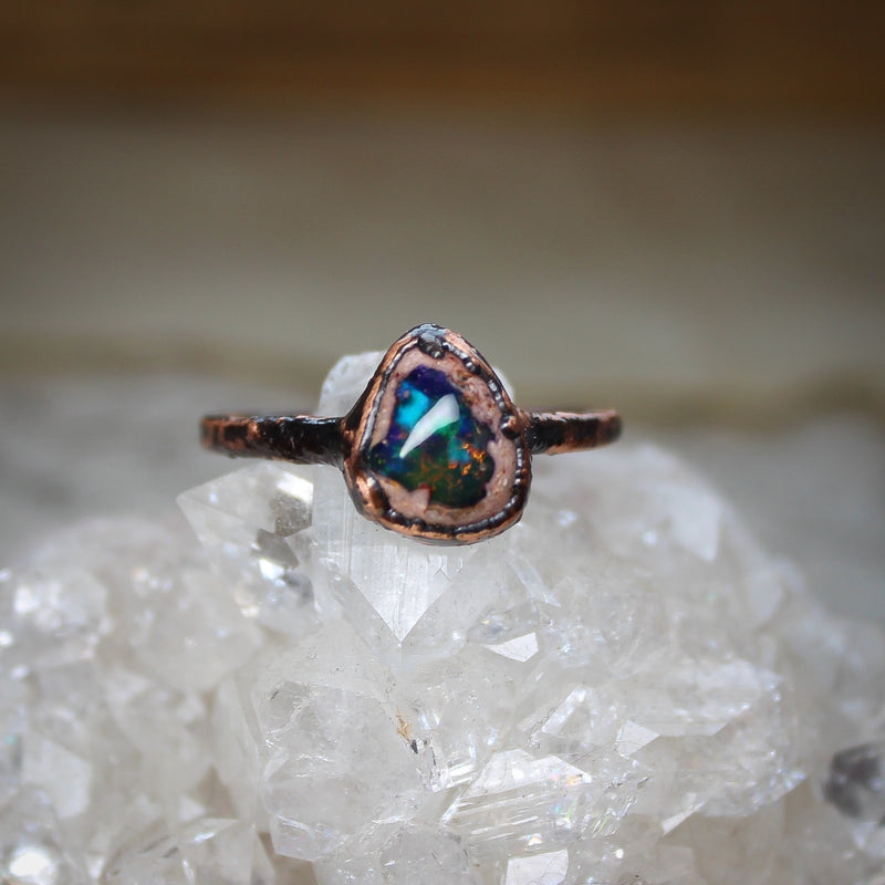 Galaxy Opal Ring size 9.25