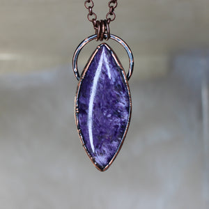 Royal Charoite Necklace - b