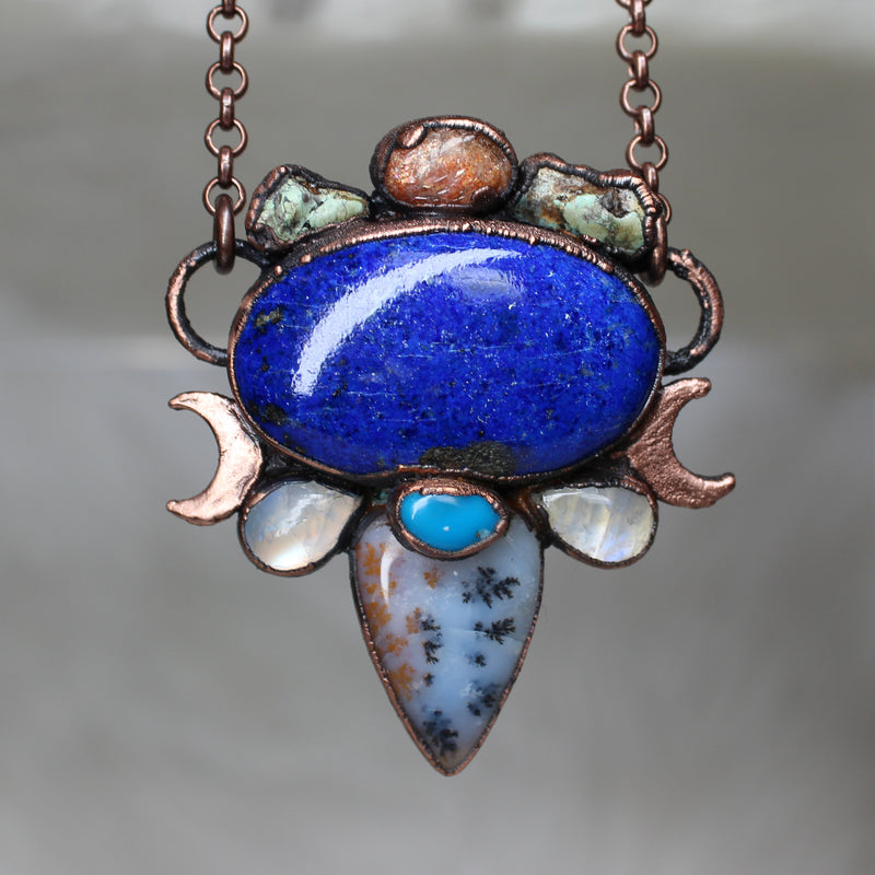 Celestial Lapis Gemstone Necklace