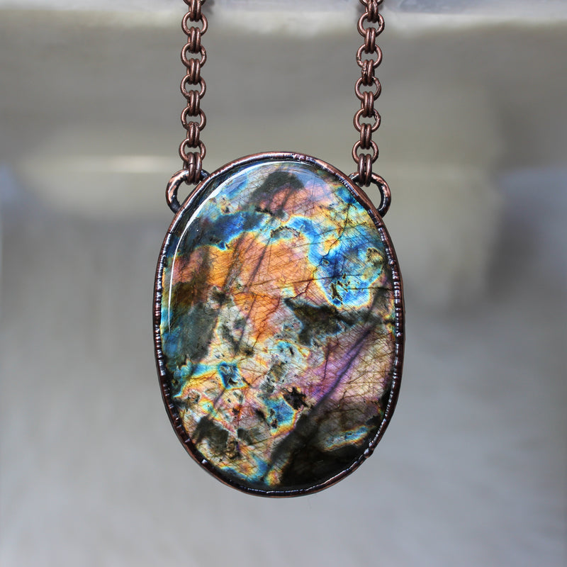 Spectrolite Labradorite Necklace