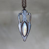 Ancient Vessel Necklace - Rainbow Moonstone B
