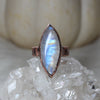 Rainbow Moonstone Ring 8.75