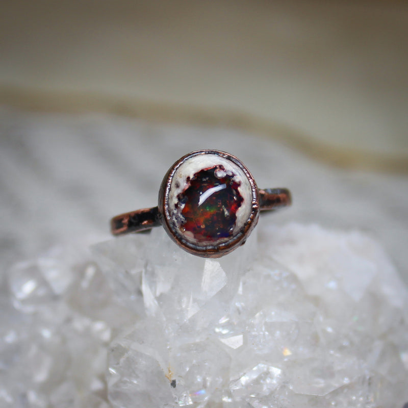 Galaxy Opal Ring size 6