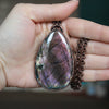 Purple Labradorite Necklace