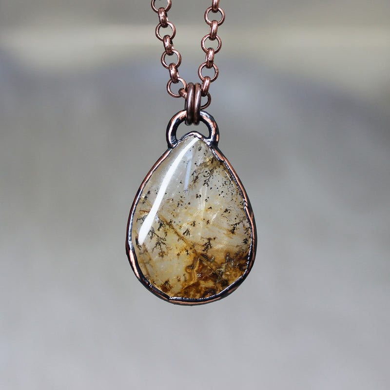 Dendritic Agate Necklace - a