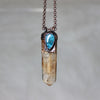 Lodolite and Blue Apatite Necklace - B