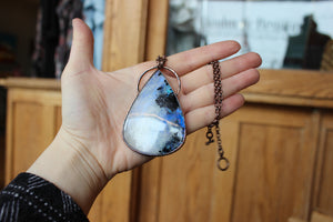 Rainbow Moonstone Necklace - b