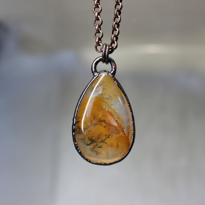 Dendritic Agate Necklace - c