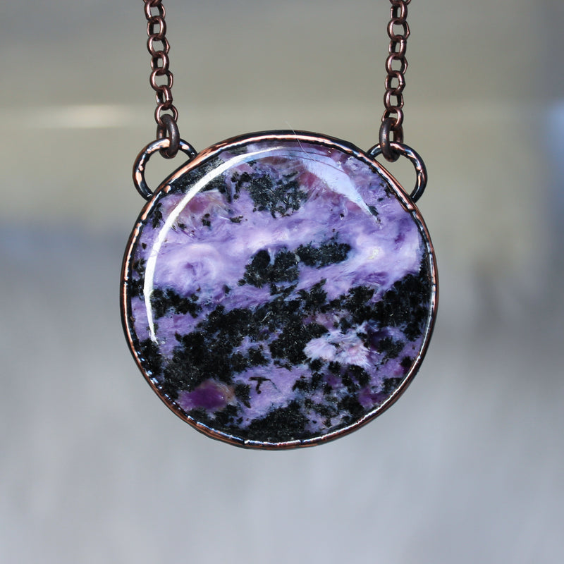 Charoite Full Moon Necklace - b
