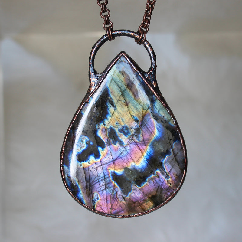 GIANT Labradorite Necklace - B