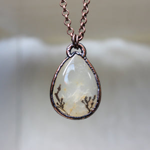 Dendritic Agate Necklace - b