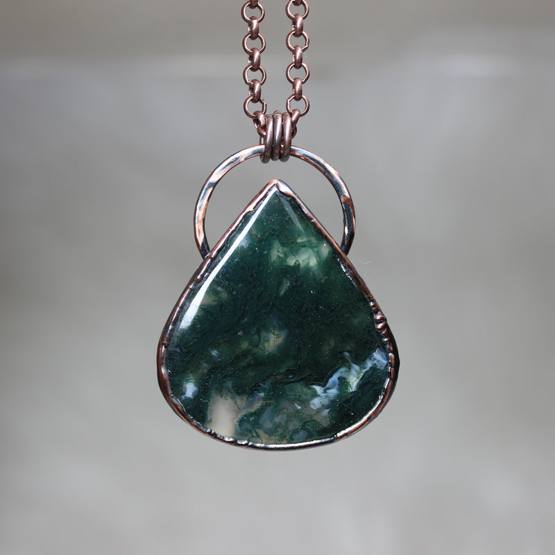 Moss Agate Necklace - a