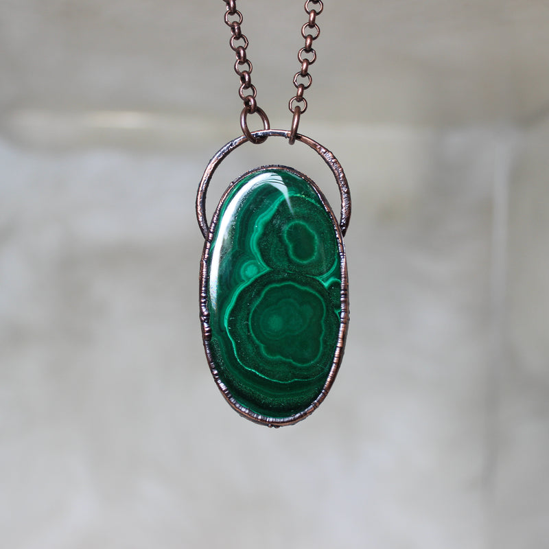 Medium size Malachite Necklace