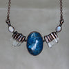 Blue Apatite Bib Necklace