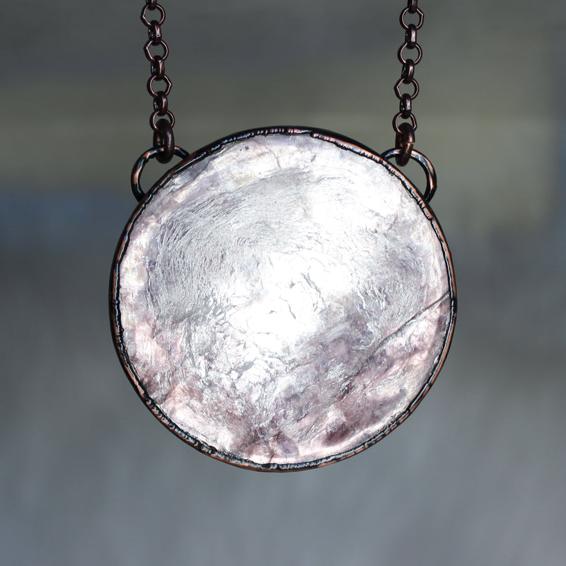 Lepidolite Full Moon Necklace - b