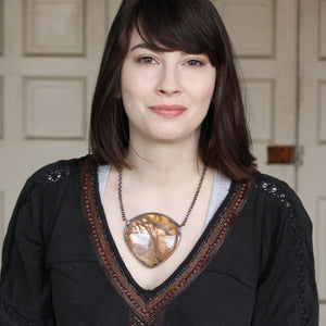 GIANT Sunstone Necklace