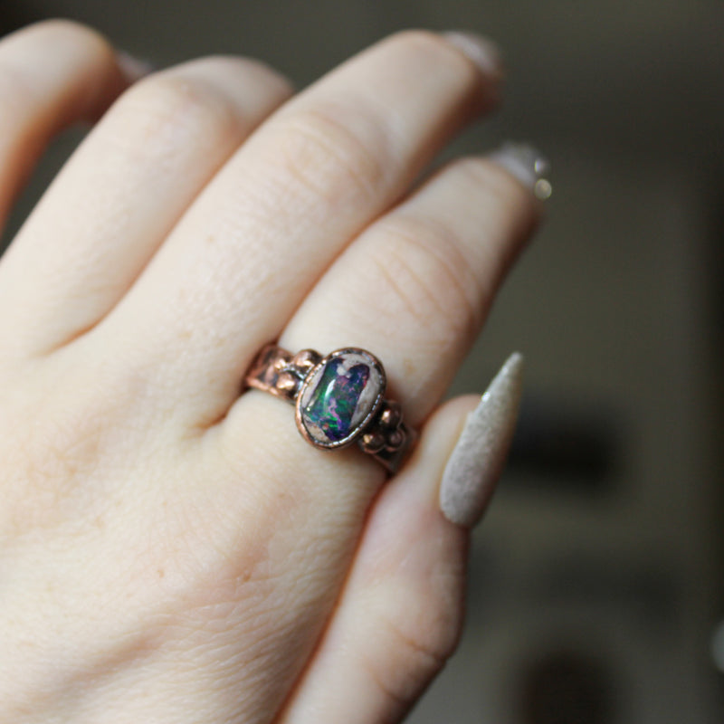 Galaxy Opal Ring size 7.75