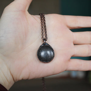 Black Moonstone Necklace