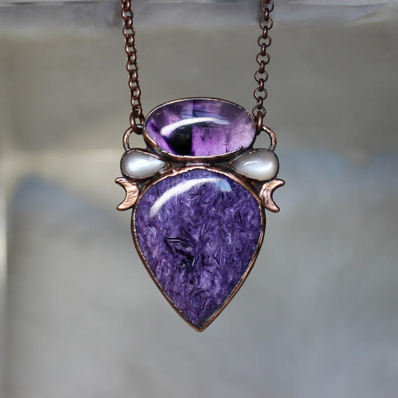 Celestial Charoite Necklace