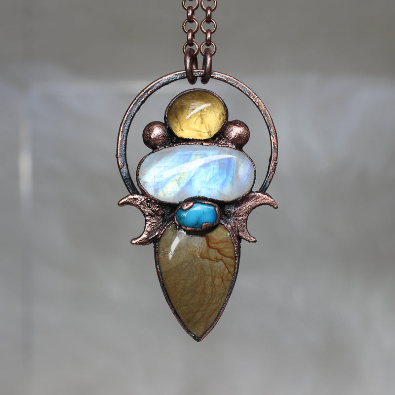 Celestial Gemstone Necklace