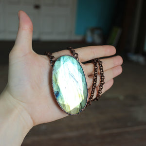 Giant Faceted Labradorite Necklace