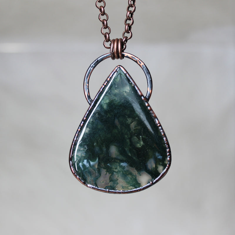 Moss Agate Necklace - b