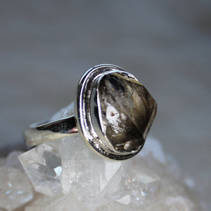 Herkimer Diamond Ring size 7.75