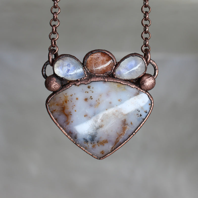 Dendritic Agate Desert Necklace