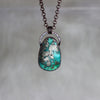 Chrysocolla with Pyrite Necklace