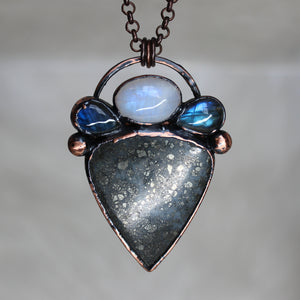 Marcasite, Moonstone & Labradorite Necklace
