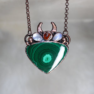 Malachite Traveler's Necklace
