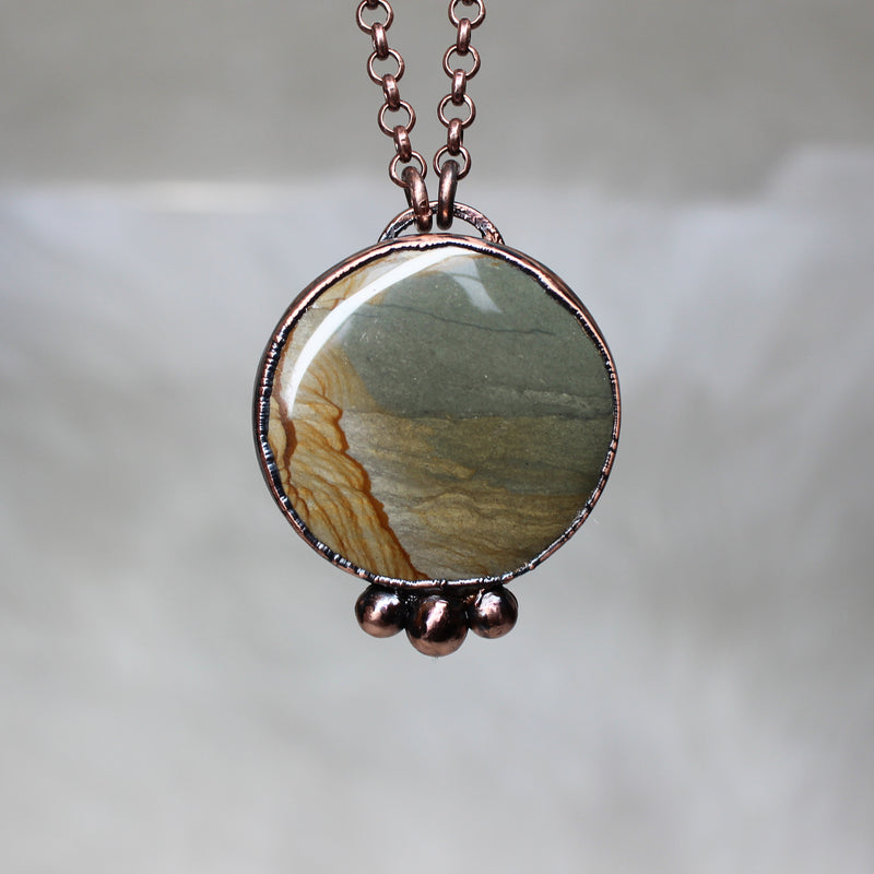 Owyhee Jasper Full Moon Necklace