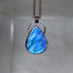 Blue Labradorite Necklace - a