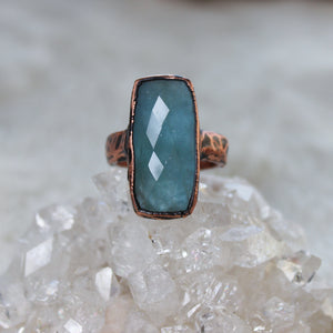 Aquamarine Ring size 9.5