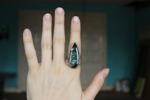 Large Seraphinite Ring size 9.5