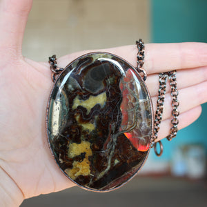 Giant Sea Fossil Necklace - B