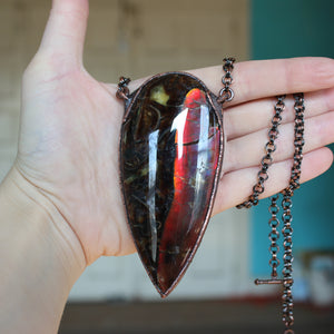 Giant Sea Fossil Necklace - C