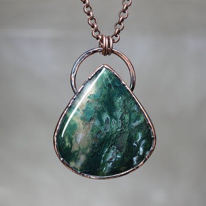 Moss Agate Necklace - c