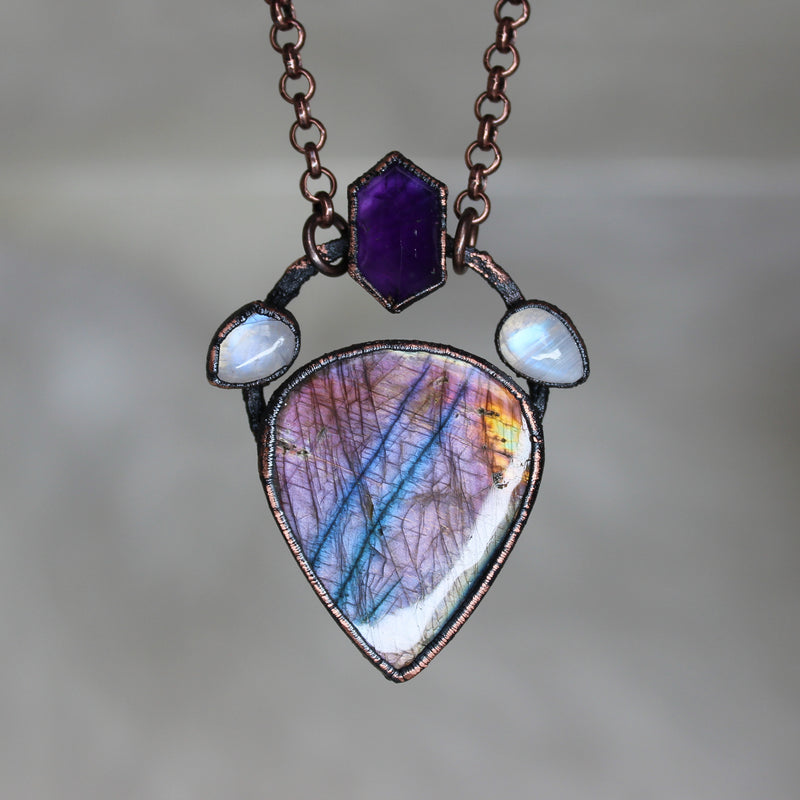 Royal Purple Labradorite necklace