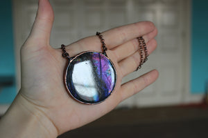 Electric Purple Labradorite Necklace