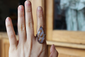 Siberian Dendritic Agate Ring size 9