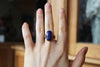 Faceted Lapis Ring size 7.25