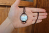 Rainbow Moonstone Full Moon Necklace
