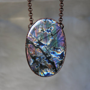 GIANT Spooky Labradorite Necklace