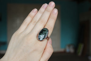 Large Seraphinite Ring size 10.5