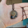 Ammonite and Apatite Necklace